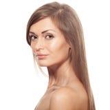 Beautiful Blond Woman. Healthy Long Hair. Make Up. Royalty Free Stock Photos