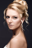 Beautiful blond woman in image of the bride Stock Photography