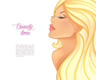 Beautiful blond woman image Royalty Free Stock Photos
