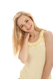 Beautiful blond woman with perfect smile Royalty Free Stock Images