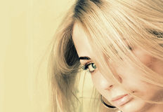 Beautiful blond woman portrait Royalty Free Stock Image