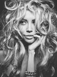 Beautiful blond woman portrait stock images