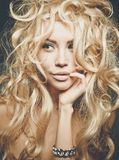 Beautiful blond woman portrait Royalty Free Stock Photos