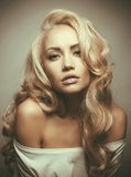 Beautiful blond woman portrait Stock Images