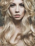 Beautiful blond woman portrait Royalty Free Stock Images
