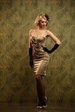 Beautiful blond woman retro portrait. Stock Photos