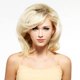 Beautiful blond woman with style hairstyle Stock Image
