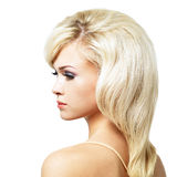 Beautiful blond woman with style hairstyle Stock Photography