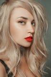 beautiful blond woman young Στοκ Εικόνες
