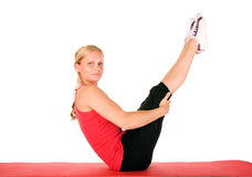 Beautiful Blond Women Exercising Royalty Free Stock Photography