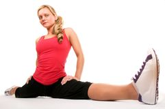 Beautiful Blond Women Exercising Stock Photography