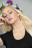 Beautiful Blond Young Model Royalty Free Stock Photos