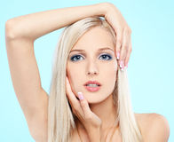 Beautiful blonde Stock Photos