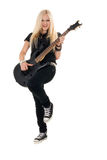 Beautiful blonde with amp Royalty Free Stock Image