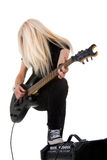 Beautiful blonde with amp Royalty Free Stock Photography