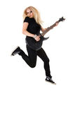 Beautiful blonde with amp Stock Image