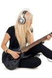 Beautiful blonde with amp Stock Photography