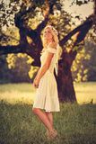 Beautiful blonde angel Royalty Free Stock Photo