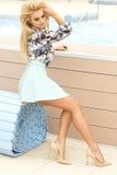 Beautiful blonde beauty posing. royalty free stock photo