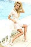 Beautiful blonde beauty posing. royalty free stock photos