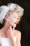 Beautiful blonde Bride Royalty Free Stock Photo