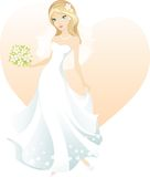 Beautiful blonde bride. Vector illustration beautiful blonde bride Stock Photography
