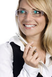 Beautiful blonde businesswoman Royalty Free Stock Photo