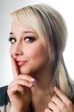 beautiful blonde close up Royalty Free Stock Photos