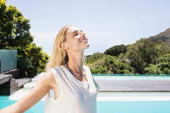 Beautiful blonde with closed eyes Stock Image