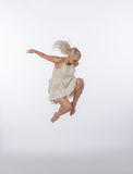 Beautiful Blonde Contemporary Dancer - Jump Royalty Free Stock Images