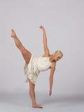 Beautiful Blonde Contemporary Dancer - Leg Up Stock Image
