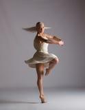 Beautiful Blonde Contemporary Dancer - Spin Stock Photos