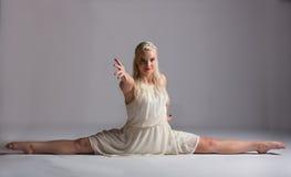 Beautiful Blonde Contemporary Dancer - Split Stock Image
