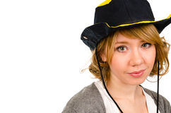 Beautiful blonde in a cowboy hat Royalty Free Stock Photos