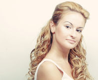 beautiful blonde with curly hair Royalty Free Stock Photos