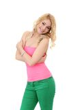 Beautiful blonde with curly hair Stock Photography