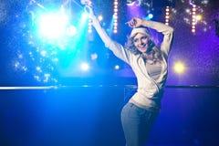Beautiful blonde dancing Royalty Free Stock Image
