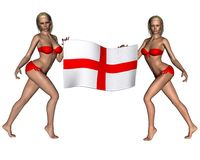 Beautiful blonde England supporters Royalty Free Stock Photos
