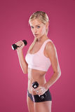 Beautiful blonde fitness model Royalty Free Stock Images