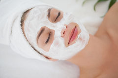 Beautiful blonde getting a facial treatment Stock Image