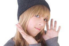 Beautiful blonde girl Stock Photo