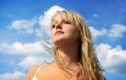 Beautiful blonde girl Stock Photos