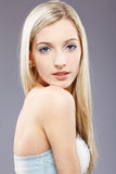 Beautiful blonde girl. Portrait of beautiful slavonic blonde girl posing royalty free stock photo