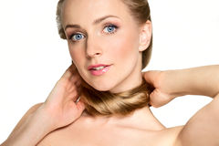 Beautiful blonde girl Royalty Free Stock Photo