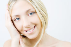 Beautiful  blonde girl. Royalty Free Stock Photography