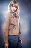 Beautiful blonde girl in casual clothes Stock Photo