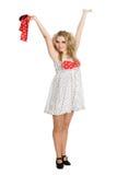 Beautiful blonde girl in dance. Stock Photography