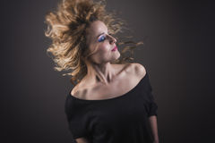 Beautiful blonde girl dancing Royalty Free Stock Photography
