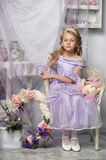 girl in a lavender dress Royalty Free Stock Image