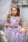 Girl in a lavender dress Royalty Free Stock Images
